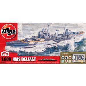 A50069 Airfix 1:72 Scale HMS Belfast Gift Set