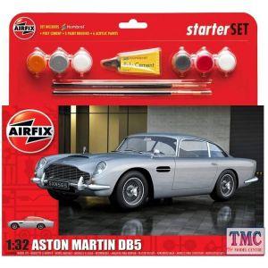 A50089B Airfix 1:32 Scale Medium Starter Set - Aston Martin DB5 Silver