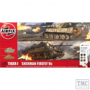 A50186 Airfix 1:72 Scale Classic Conflict Tiger 1 vs Sherman Firefly