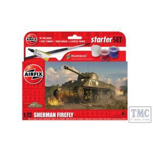 A55003 Airfix 1:72 Scale Starter Set NEW Sherman Firefly