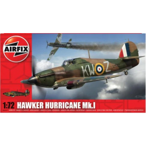 A55111 AirfixHawker Hurricane Mk.I 1:72 (Pre-owned - kit only, no cement/paint/brush)