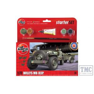 A55117 Airfix 1:72 Scale Starter Set Willys MB Jeep
