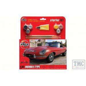 A55200 Airfix 1:32 Scale Starter Set - Jaguar E-Type