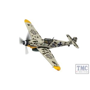AA27110 Corgi 1:72 Scale Messerschmitt Bf 109G-6 Black Double Chevron 'Mickey Mouse', Hptm. Horst Carganico, CO II./JG 5, Pskow South Airfield, Soviet Union, Early 1944