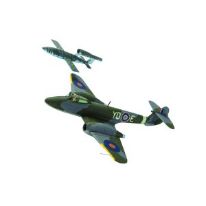 AA27403 Corgi 1:72 Scale Gloster Meteor F.1 - EE216/YQ-E- T.D. 'Dixie' Dean- RAF No.616 Squadron AND Fieseler F- 103 V-1 'Doo
