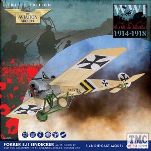 AA28701 Corgi 1:48 Scale Fokker E.II Eindecker - 69/15- flown by Kurt von Crailsheim- FFA 53- Monthois- France- October 1915 WWI