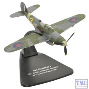 AC071 Oxford Diecast 1:72 Scale Bell Airacobra I 601 County of London Sqn RAF Duxford 1940