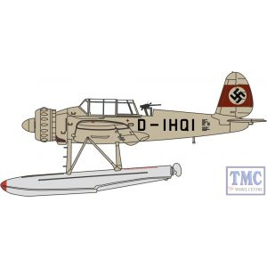 AC080 Oxford Diecast 1:72 Scale Arado AR196 D-IHQI Prototype 1938