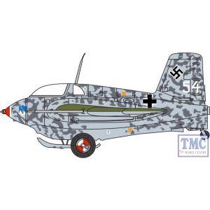 AC084 Oxford Diecast 1:72 Scale Messerschmitt ME163B Komet White 54 14JG 400 Niemcy 1945
