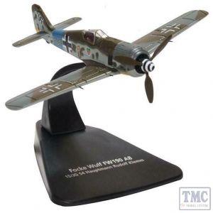 AC090 Oxford Diecast 1:72 Scale Focke Wulf 190A 15/JG 54 Hauptmann Rudolf Klemm
