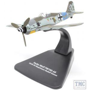 AC090S Oxford Diecast 1:72 Scale Focke Wulf 190A 15/JG 54 Hauptmann Rudolf Klemm n/Swastika