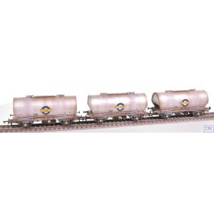 ACC1050-PCV-A Accurascale OO Gauge APCM Cemflo / PCV Powder Wagon - Triple Pack - LA202