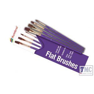 AG4305 Humbrol Flat Brush Pack