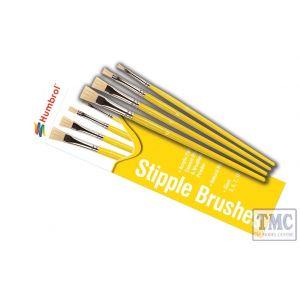 AG4306 Humbrol Stipple Brush Pack