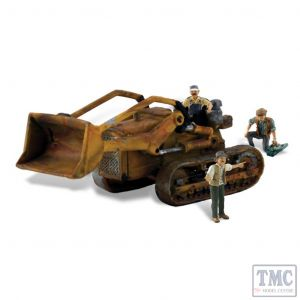 AS5558 Woodland Scenics OO/HO Scale Fritz's Front Loader Digger Tractor