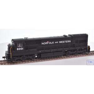 10000889 Atlas HO Gauge (US Outline) U30C Phase 3 Loco 8001 Norfolk and Western Black (DCC Ready)