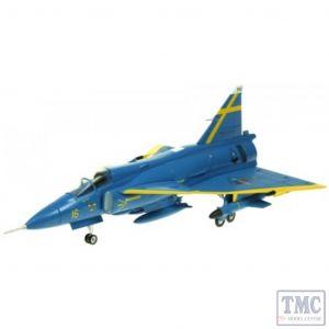 AV7242003 Aviation 72 1/72 SAAB VIGGEN F16-32 JA37D BLUE PETER UPPSALA 2001