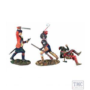 B16040 W.Britain _Art of Warí«íˆíëŒÂ Bushy Run Set No.2 3 Piece Set LE 350 Sets - Clash of Empires