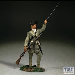 B16068 W.Britain Continental Line in Hunting Shirt Standing Loading Clash of Empires 1754-95