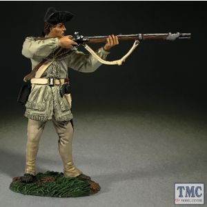 B16069 W.Britain Continental Line in Hunting Shirt Standing Firing Clash of Empires 1754-95