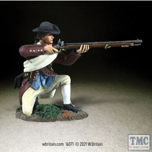 B16071 W.Britain Colonial Militia Kneeling Firing No 3 Clash of Empires 1754-95