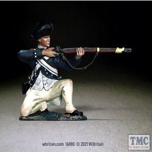B16080 W.Britain Clark's Illinois Regiment Kneeling Firing 1782