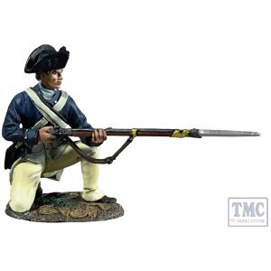 B16085 W.Britain George Rogers Clark Illinois Regiment Kneeling at the Ready Clash of Empires 1754-95