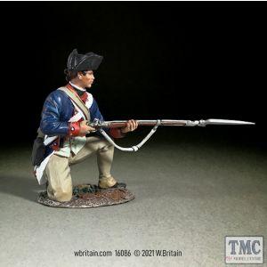 B16086 W.Britain Continental Line/1st American Regiment Kneeling Alert 1779-87 Clash of Empires 1754-95