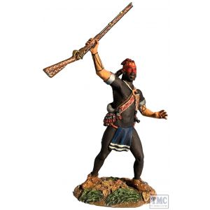 B16088 W.Britain Native Warrior Yelling War Cry Clash of Empires 1754-95