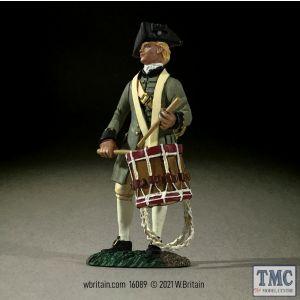 B16089 W.Britain Colonial Militia Drummer No 1 Clash of Empires 1754-95