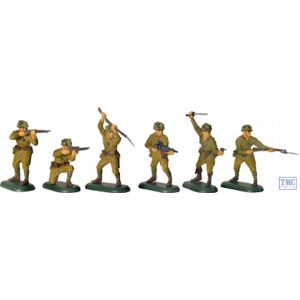 B17829 W.Britain World War II Japanese Infantry 48 Piece Counter Pack Super Deetail Plastics