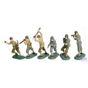 B17830 W.Britain World War II US Infantry 48 Piece Counter Pack Super Deetail Plastics