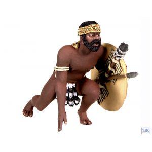 B20158 W.Britain Zulu Warrior Getting Up to Run Zulu War Collection Matte