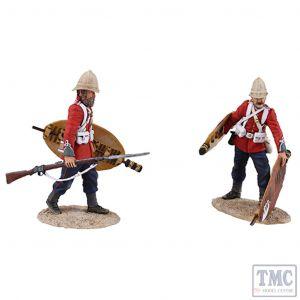 B20167 W.Britain Clearing The Yard Set 3 2 Piece Ltd. Ed. of 450 Sets Zulu War Collection Matte