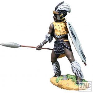 B20195 W.Britain Zulu Thrusting with Spear uThulwana