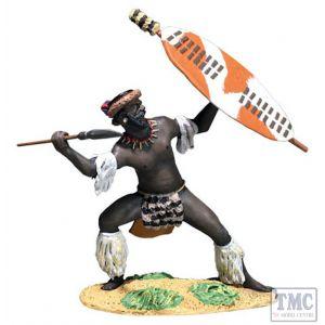 B20198 W.Britain Zulu Defending with Spear uDloko