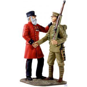 B23059 W.Britain The Veteran's Farewell 2 Piece Set World War I Collection