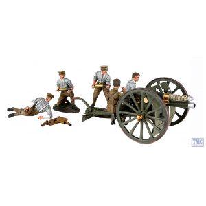 B23078 W.Britain 1914 British 13-Pound Gun RHA Crew - 7 Piece with Certificate WWI 1914-18
