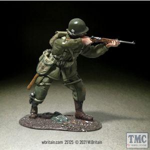 B25125 W.Britain U.S. 101st Airborne Standing Firing Carbine Winter 1944-45 WWII 1939-45