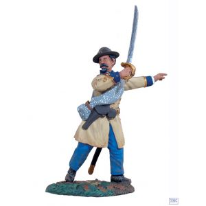 B31013 W.Britain Confederate Infantry Officer Advancing 2 American Civil War Collection
