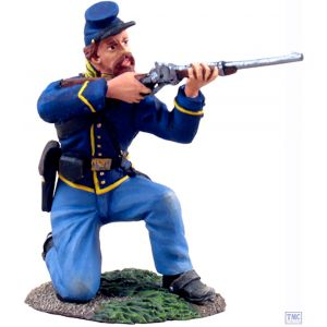 B31061 W.Britain Union Cavalry Trooper Dismounted Kneeling Firing _1 American Civil War 1861-65