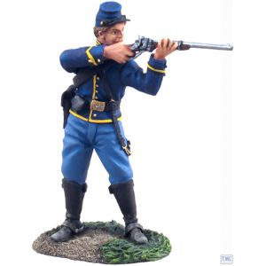 B31063 W.Britain Union Cavalry Trooper Dismounted Standing Firing 1 American Civil War Collection