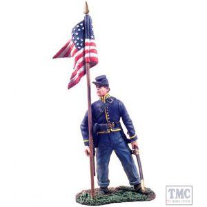 B31071 W.Britain Union Cavalry Guidon Bearer Dismounted 1 American Civil War Collection