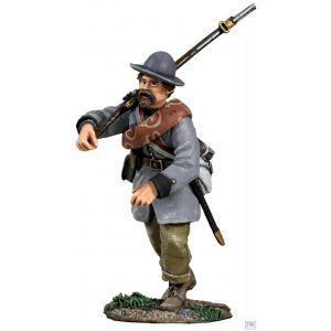 B31177 W.Britain Confederate Infantry in Frock Coat Charging No 2 American Civil War 1861-65