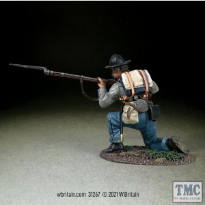 B31267 W.Britain Confederate Infantry Kneeling Preparing To Fire American Civil War 1861-65