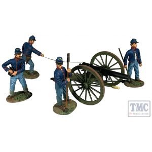 B31313 W.Britain Sending Mischief Down Range Firing 10lb ParrottGun - 5 Piece Set American Civil War 1861-65