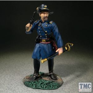 B31335 W.Britain Federal Officer Standing With Pistol American Civil War 1861-65