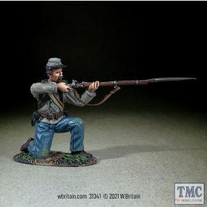 B31341 W.Britain Confederate Infantry Kneeling Firing No 2 American Civil War 1861-65