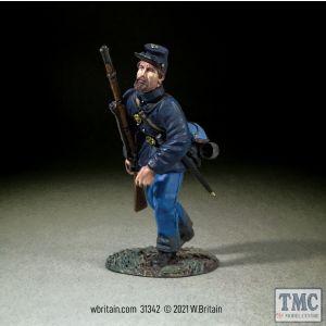 B31342 W.Britain Federal in Sack Coat and Kepi Advancing American Civil War 1861-65