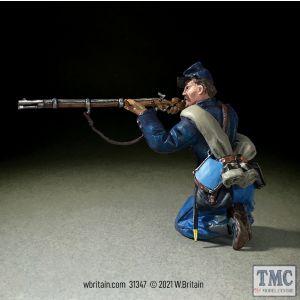 B31347 W.Britain Federal Irish Brigade Kneeling Firing No 1 American Civil War 1861-65